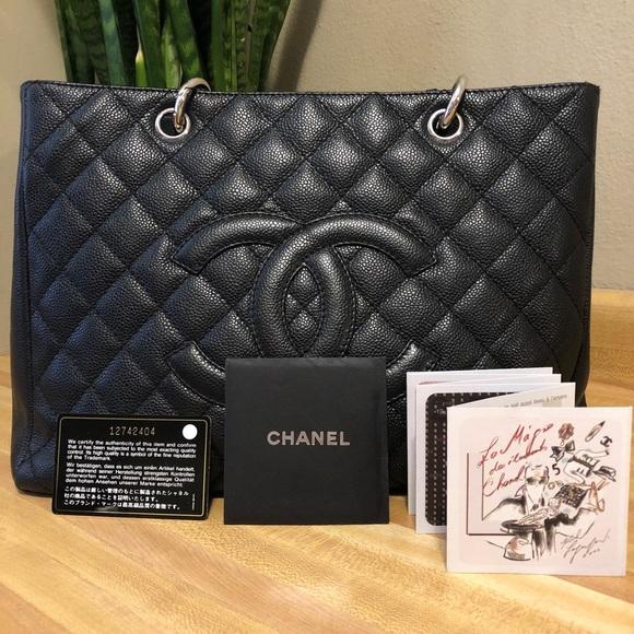 40858360012a CHANEL Handbags - 💯CHANEL GST XL Caviar Black Grand Shopper Tote💯